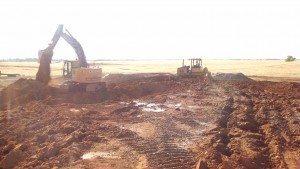 excavation, backfill, grading, site restoration